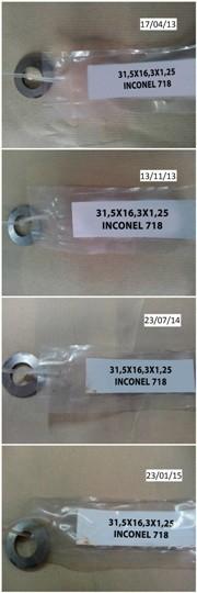 Corrosión en muelle de platillo de Inconel